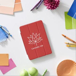 Capa Para iPad Mini Logotipo do oficial de Canadá 150 - vermelho e