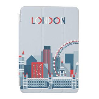 Capa Para iPad Mini Londres, Inglaterra skyline vermelha, branca e