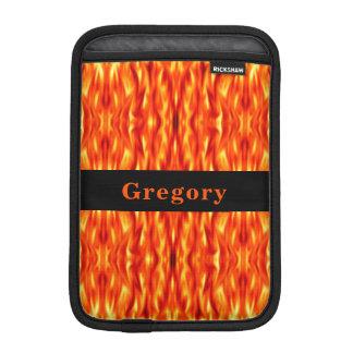 Capa Para iPad Mini Luva do iPad do fogo do abstrato da laranja do