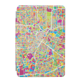 Capa Para iPad Mini Mapa de néon de Houston, Texas |