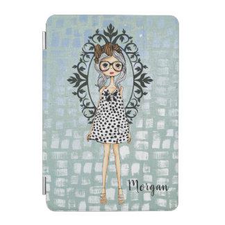 Capa Para iPad Mini Menina bonito do hipster com vidros