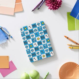 Capa Para iPad Mini Mosaico do Sr. Colisão | no teste padrão azul