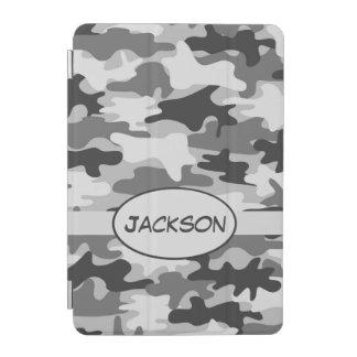Capa Para iPad Mini Nome cinzento da camuflagem de Camo personalizado