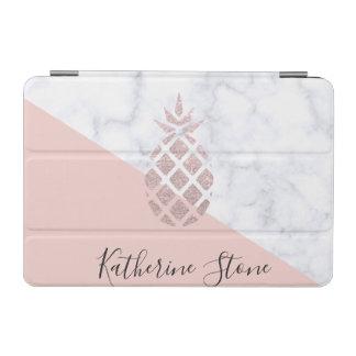 Capa Para iPad Mini O mármore branco do brilho cor-de-rosa elegante do
