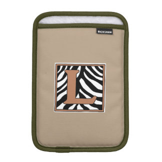 Capa Para iPad Mini Pele L mini luva da zebra do iPad Monogrammed