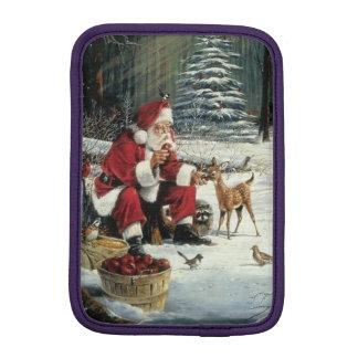 Capa Para iPad Mini Pintura de Papai Noel - arte do Natal