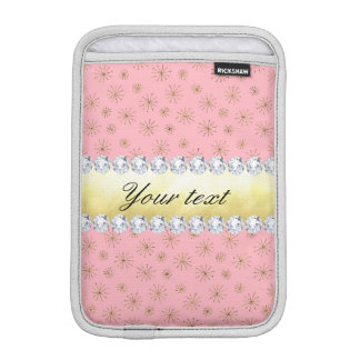 Capa Para iPad Mini Rosa chique dos flocos de neve do brilho do ouro