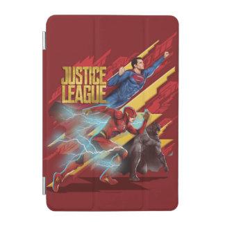Capa Para iPad Mini Superman da liga de justiça |, flash, & crachá de