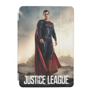 Capa Para iPad Mini Superman da liga de justiça | no campo de batalha
