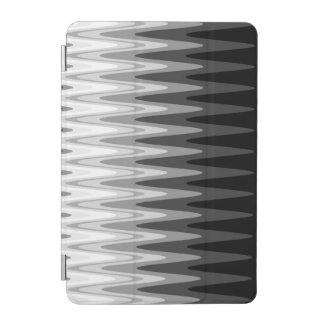 Capa Para iPad Mini Teste padrão cinzento branco preto do ziguezague