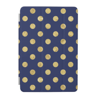 Capa Para iPad Mini Teste padrão de bolinhas elegante da folha de ouro