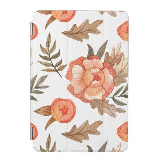 Capa Para iPad Mini Teste padrão de flor tirado do batik do outono mão