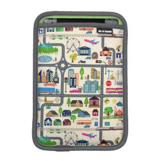 Capa Para iPad Mini Teste padrão do mapa da cidade