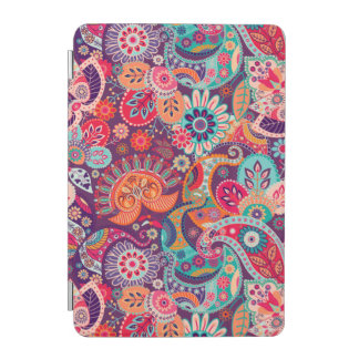 Capa Para iPad Mini Teste padrão floral de néon cor-de-rosa de Paisley