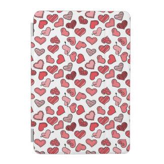 Capa Para iPad Mini Teste padrão simples de vibração dos corações dos