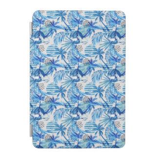 Capa Para iPad Mini Teste padrão tropical azul brilhante da aguarela