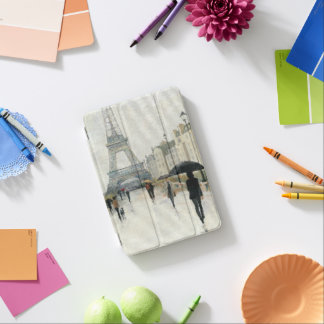 Capa Para iPad Mini Torre Eiffel | Paris na chuva