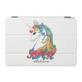 Capa Para iPad Mini Unicórnio bonito do arco-íris da aguarela