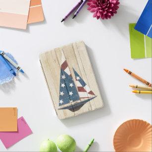 Capa Para iPad Mini Veleiro com bandeira americana