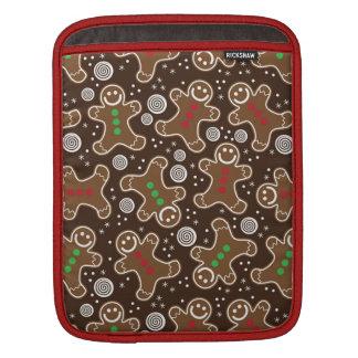 Capa Para iPad Pão-de-espécie verdes vermelhos bonitos do Natal