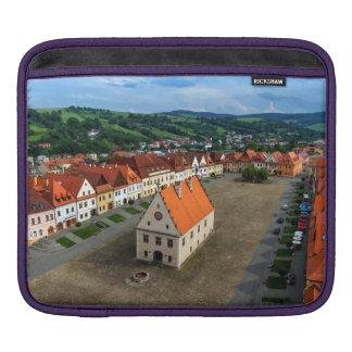 Capa Para iPad Praça da cidade velha em Bardejov, Slovakia