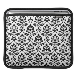 Capa Para iPad Preto da cor damasco de Feuille no branco