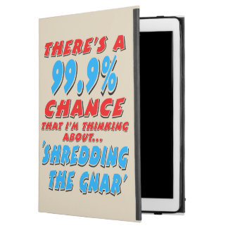 "Capa Para iPad Pro 12.9"" 99,9% SHREDDING O GNAR (preto)"