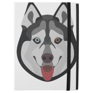 """Capa Para iPad Pro 12.9"""" A ilustração persegue o rouco Siberian da cara"""