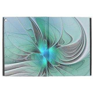 "Capa Para iPad Pro 12.9"" Abstrato com arte azul, moderna do Fractal"