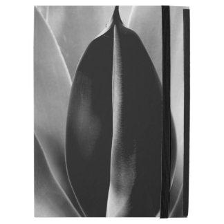 "Capa Para iPad Pro 12.9"" Aloés - fotografia macro das belas artes em preto"