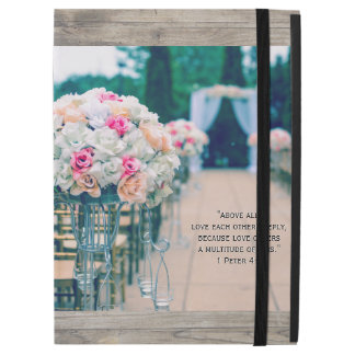 """Capa Para iPad Pro 12.9"""" Amor do buquê da flor e verso da bíblia do"""