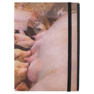 "Capa Para iPad Pro 12.9"" Animal - porco - comida do conforto"