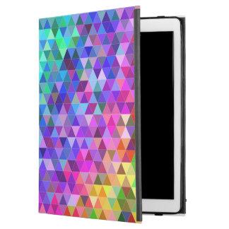 """Capa Para iPad Pro 12.9"""" Arco-íris do mosaico do triângulo"""