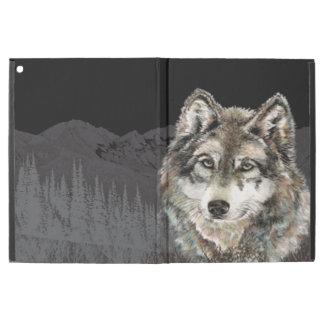 """Capa Para iPad Pro 12.9"""" Arte dos animais selvagens da cabeça da montanha"""