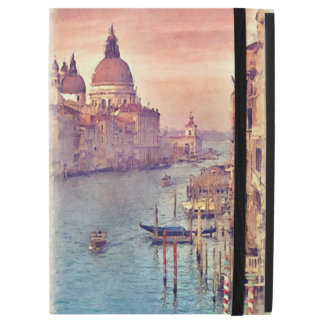 "Capa Para iPad Pro 12.9"" Arte Pastel da aguarela do canal chique de Veneza"