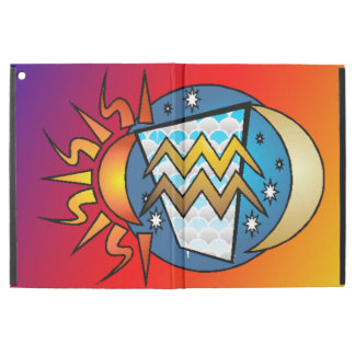"""Capa Para iPad Pro 12.9"""" astrologia, Aquário"""