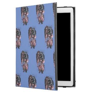 """Capa Para iPad Pro 12.9"""" Astronauta e bandeira americana"""