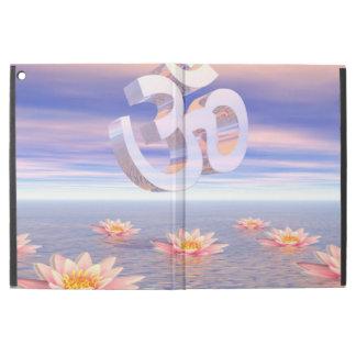 """Capa Para iPad Pro 12.9"""" Aum - OM em cima dos waterlilies - 3D rende"""