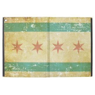 """Capa Para iPad Pro 12.9"""" Bandeira patriótica gasta de Chicago"""