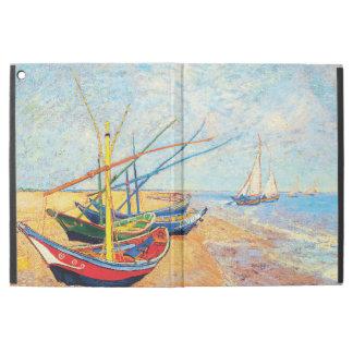 "Capa Para iPad Pro 12.9"" Barcos de pesca na praia em Saintes-Maries"