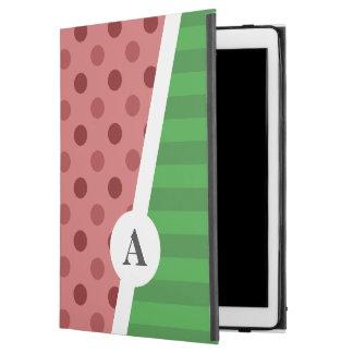 """Capa Para iPad Pro 12.9"""" Bolinhas da melancia e monograma da listra"""