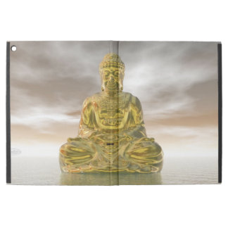 """Capa Para iPad Pro 12.9"""" Buddha dourado - 3D rendem"""