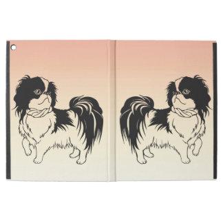 "Capa Para iPad Pro 12.9"" Cães preto e branco bonitos no pro caso do iPad"