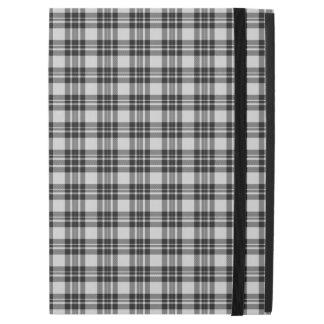 "Capa Para iPad Pro 12.9"" Caixa do Tartan de Black&white"