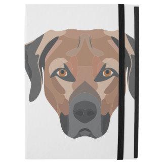 """Capa Para iPad Pro 12.9"""" Cão Brown Labrador da ilustração"""