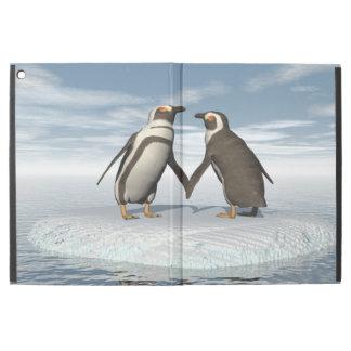 """Capa Para iPad Pro 12.9"""" Casal dos pinguins"""
