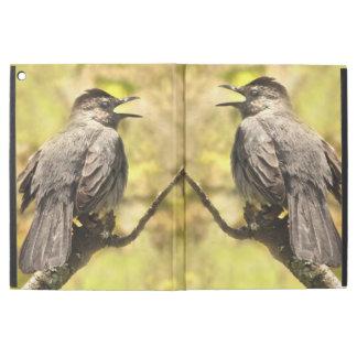 """Capa Para iPad Pro 12.9"""" Catbirds cinzentos do canto iPad de Powis pro caso"""