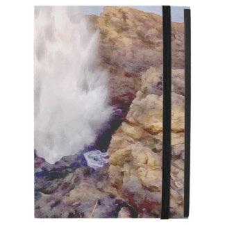 """Capa Para iPad Pro 12.9"""" Chá da água devido às ondas"""