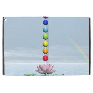 "Capa Para iPad Pro 12.9"" Chakras e arco-íris - 3D rendem"
