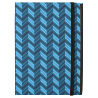 """Capa Para iPad Pro 12.9"""" Chevron azul escuro legal"""